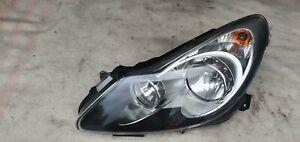 Vauxhall Opel Corsa D 06-11 Passenger Left Headlight Light Black Insert Genuine