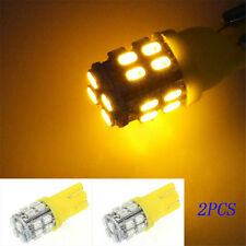 2PCS  T10 20SMD LED W5W 194 168 501 Car Auto Side Wedge YELLOW Light Bulb Amber