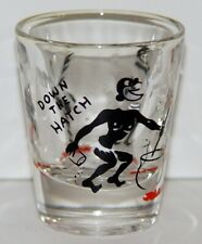 Down the Hatch Shot Glass Cannibal Cook Pot Black Man Abducts White Lady Racist