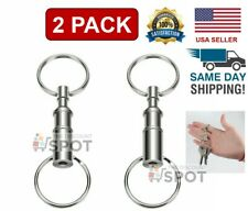 2-Pack Detachable Pull Apart Quick Release Keychain Key Rings/ US Free Shipping