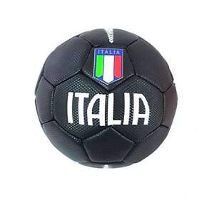 Pallone Palla Da Calcio Football Misure E Peso Ufficiali Italia Nero moc
