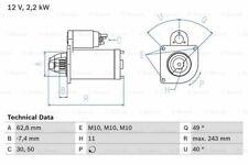 VOLVO V50 545 2.0D Starter Motor 04 to 10 Bosch 30667058 30667494 30667874