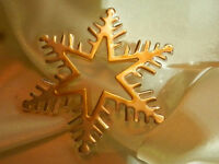 Best Signed Silver Plated W/Gold Tone Snowflake  Vintage 80's Star Brooch 146J8
