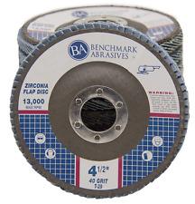 "50 Pack 4.5"" x 7/8"" Professional 40 Grit Zirconia Flap Disc Grinding Wheels T29"