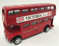 Vintage London Red Double Decker Bus 11 Piccadilly Circus Victoria BC Canada