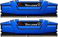 16GB G.Skill DDR4 PC4-19200 2400MHz Ripjaws V CL15 Dual kit 2x8GB 1.20V Blue