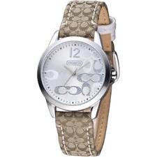 Coach Women's Signature Brown Fabic Monograml Watch 14501620  NEW NWT