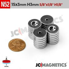 15mm X 3mm 58x18 Hole 3mm N52 Strong Countersunk Ring Rare Earth Magnet