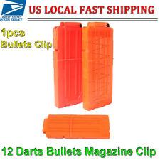 12 Darts Bullets Magazine Clip System for Nerf N-strike Elite Toy Gun Orange USA