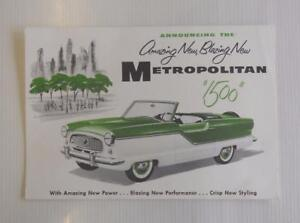 Austin METROPOLITAN 1500 Car Publicity Item c1956 #M-56-5274