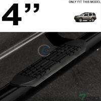 "Topline For 05-15 Nissan Xterra 4"" Oval Side Step Nerf Bars Running Boards - Blk"