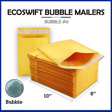 1 0 6x10 Kraft Bubble Mailers Padded Envelopes 6 X 10