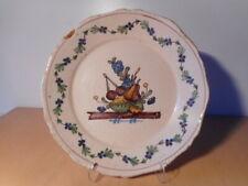 Assiette ancienne faience centre France 18 19 siècle fruit ceramique française