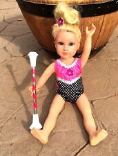 "BATON TWIRLING COSTUME FOR YOUR 18"" DOLL SEQUINS OUTFIT+ BABY BATON TWIRLER GIFT"