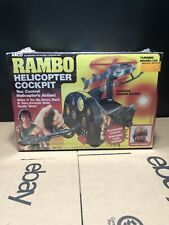 Vintage 1986 Rambo Helicopter Cockpit Arco  Stallone Action Figure NIB