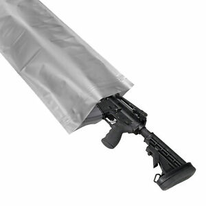 "Airtight Waterproof Long Rifle Gun Storage & Shipping Bag, 12""x52"" Zipper Seal"