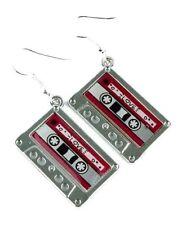 Cassette Tape Earrings 80s 90s Funky Cute Kitsch Retro Cool Fun Novelty