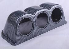 60mm Triple Gauge Pod Universal Holder Mount A Plastic Cup Dash Pillar 3 Gauges