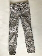J Brand Girls Sugar Cane Gray Floral Skinny Jeans Size 7