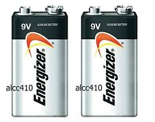 2x Energizer 9V Alkaline Battery Block 9 Volt PP3 6LF22 6LR61 Industrial Packing