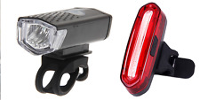 LED BIANCO ANTERIORE E POSTERIORE LUCE ROSSA-USB ricaricabile BICICLETTA Luci Set Impermeabile UK