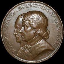 USA & POLEN: Medaille 1926, J. Aumiller. KAZIMIERZ PUŁASKI & TADEUSZ KOŚCIUSZKO.