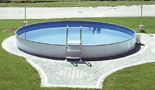 Pool Schwimmbecken rund 6,00 x 1,50 m Stahlwand 0,80 mm Innenfolie Komplettset