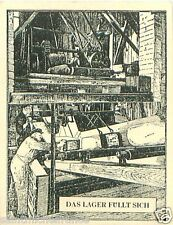 Germany Stock warehousing steamers TOBACCO HISTORY HISTOIRE TABAC IMAGE CARD 30s