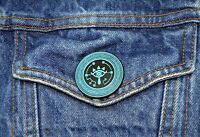 Zelda Breath of the Wild Collector Pin - Sheikah Eye - Switch Wii 3DS Snes Nes
