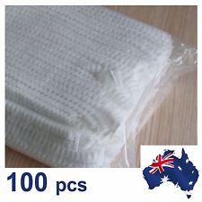 100 Disposable Non-woven Elastic Pleated Bouffant Mob Bar Cap Hair Net(OZ stock)
