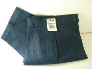 TFW Navy Blue Cotton Blend Cuffed Flat Front Dress Pants Boys Size 14 NEW NWT
