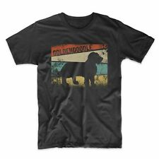 Men's Goldendoodle Shirt - Retro Style Goldendoodle Silhouette Dog Owner T-Shirt