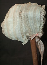 VICTORIAN INFANT DAY CAP OR BONNET HANDMADE WITH  VALENCIENNES LACE