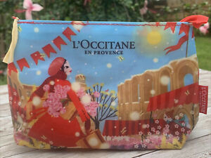 L'Occitane Provence Cosmetic Toiletry Travel Bag With Zipper Holiday Christmas