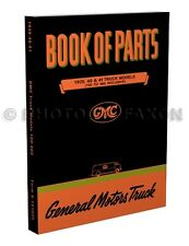 1939 1940 1941 GMC Parts Book Pickup and Truck 100-460 Master Catalog