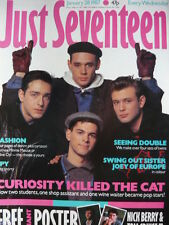 JUST SEVENTEEN MAGAZINE 28/1/87 - SWING OUT SISTER - EUROPE - CURIOSITY