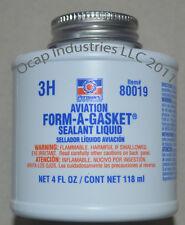 PERMATEX AVIATION FORM-A GASKET SEALANT LIQUID 1 CASE 12 BOTTLES 4 FL OZ  80019