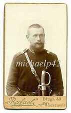 Russian Imp 37 Dragoon of Miltary Order Regiment Corporal w Sword Photo Warszawa