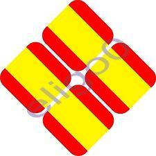 4X SPAIN HELMET - CAR FLAG STICKERS BUMPER DECAL