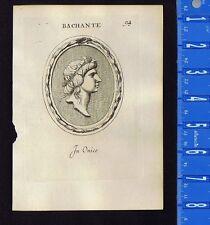 MAENAD-BACCHANTE-BACCHUS-Pl. 94 Leonardo Agostini-Battista -1685 Engraving