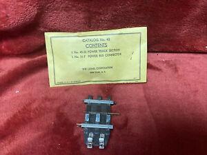 MINT SEALED IN BAG Lionel #43 Super O Power Track Vintage 1958-66 No Reserve