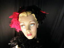 ~Spiderwoman hat~feathers~black rose~NEW~ & black feather boa~2 pcs.~COSTUME~