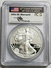 2015-W 1 Oz Silver $1 AMERICAN EAGLE John Mercanti's Signature PCGS PR69DCAM.