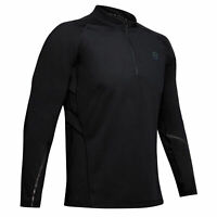 Under Armour RUSH ColdGear Run 1/2 Zip Mens Running Fitness Shirt Top - L