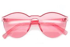 Cat Eye Round Sunglasses Designer Rimless Frames Color Lens Women Fashion