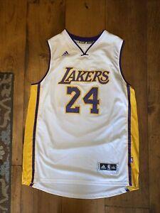 Adidas Los Angeles Lakers Kobe Bryant Vtg White Swingman Jersey Size 2XL XXL