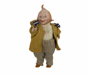 "Kestner All Bisque Moritz Character Doll 6"" Germany Rare Socket 5 Piece Antique"