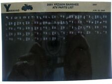 Yamaha YFZ350 2001 Banshee YFZ350N Parts List Manual Microfiche r11