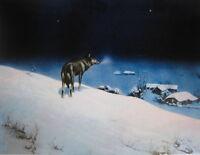 Alfred von Kowalski-Wierusz Lone Wolf 2 vintage art