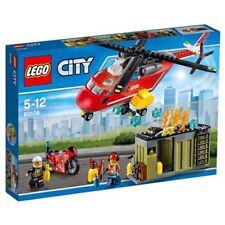 LEGO 60108 - Elicottero City Pompieri Unità di Risposta Antincendio NUOVO
